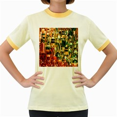 Candles Christmas Market Colors Women s Fitted Ringer T-Shirts