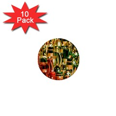 Candles Christmas Market Colors 1  Mini Buttons (10 pack)