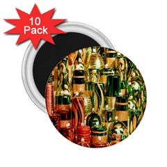 Candles Christmas Market Colors 2.25  Magnets (10 pack)