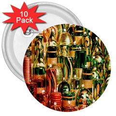 Candles Christmas Market Colors 3  Buttons (10 Pack)