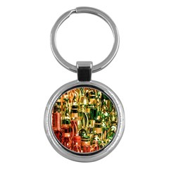 Candles Christmas Market Colors Key Chains (round)