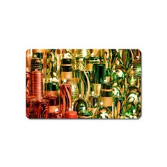 Candles Christmas Market Colors Magnet (Name Card)