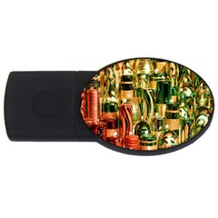 Candles Christmas Market Colors USB Flash Drive Oval (2 GB)