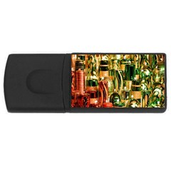 Candles Christmas Market Colors USB Flash Drive Rectangular (2 GB)