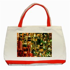 Candles Christmas Market Colors Classic Tote Bag (Red)