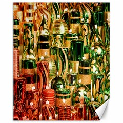 Candles Christmas Market Colors Canvas 11  x 14