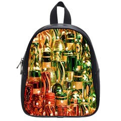 Candles Christmas Market Colors School Bags (Small)
