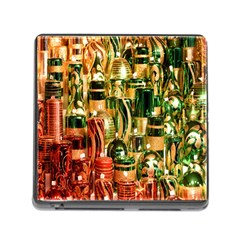 Candles Christmas Market Colors Memory Card Reader (square)