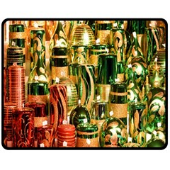 Candles Christmas Market Colors Fleece Blanket (Medium)