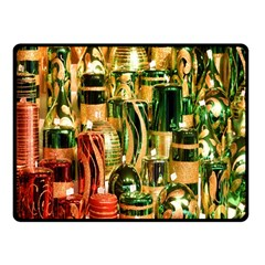 Candles Christmas Market Colors Fleece Blanket (Small)