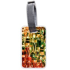 Candles Christmas Market Colors Luggage Tags (One Side)