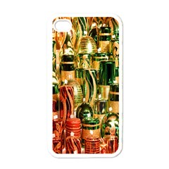 Candles Christmas Market Colors Apple iPhone 4 Case (White)