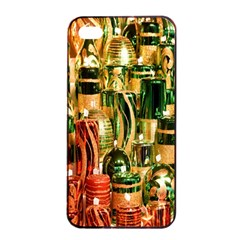 Candles Christmas Market Colors Apple iPhone 4/4s Seamless Case (Black)