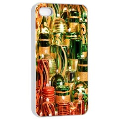 Candles Christmas Market Colors Apple iPhone 4/4s Seamless Case (White)