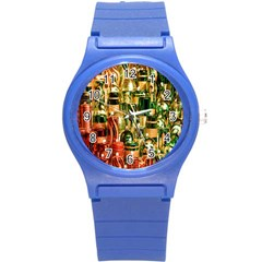 Candles Christmas Market Colors Round Plastic Sport Watch (s)