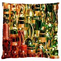 Candles Christmas Market Colors Large Cushion Case (two Sides)