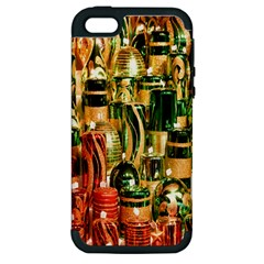 Candles Christmas Market Colors Apple Iphone 5 Hardshell Case (pc+silicone)