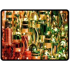 Candles Christmas Market Colors Double Sided Fleece Blanket (large)