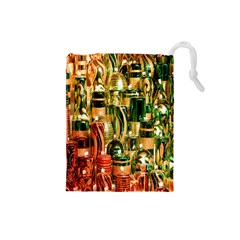 Candles Christmas Market Colors Drawstring Pouches (small)