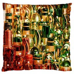 Candles Christmas Market Colors Standard Flano Cushion Case (Two Sides)