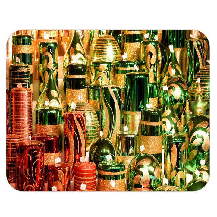 Candles Christmas Market Colors Double Sided Flano Blanket (Medium)