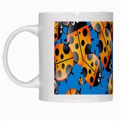 Cartoon Ladybug White Mugs
