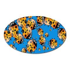 Cartoon Ladybug Oval Magnet