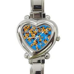 Cartoon Ladybug Heart Italian Charm Watch