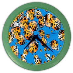 Cartoon Ladybug Color Wall Clocks