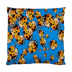 Cartoon Ladybug Standard Cushion Case (Two Sides)