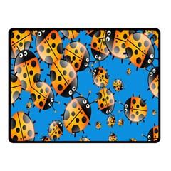 Cartoon Ladybug Fleece Blanket (Small)