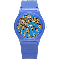 Cartoon Ladybug Round Plastic Sport Watch (S)