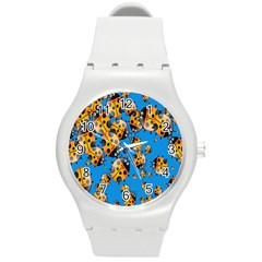 Cartoon Ladybug Round Plastic Sport Watch (M)