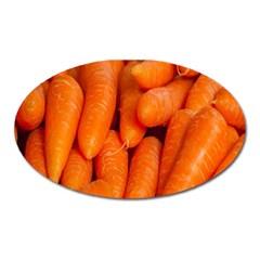 Carrots Vegetables Market Oval Magnet