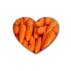 Carrots Vegetables Market Heart Coaster (4 pack)