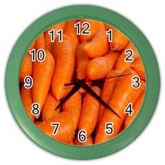 Carrots Vegetables Market Color Wall Clocks