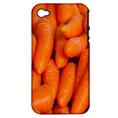 Carrots Vegetables Market Apple iPhone 4/4S Hardshell Case (PC+Silicone)