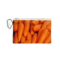 Carrots Vegetables Market Canvas Cosmetic Bag (s)