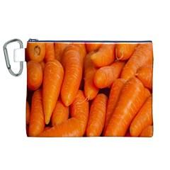 Carrots Vegetables Market Canvas Cosmetic Bag (xl)