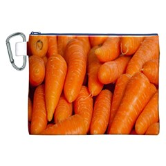 Carrots Vegetables Market Canvas Cosmetic Bag (XXL)
