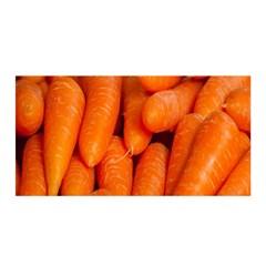 Carrots Vegetables Market Satin Wrap