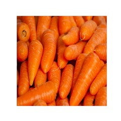 Carrots Vegetables Market Small Satin Scarf (Square)