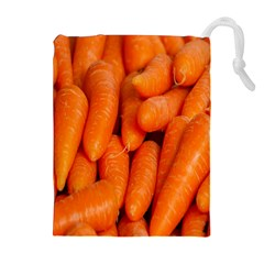 Carrots Vegetables Market Drawstring Pouches (Extra Large)