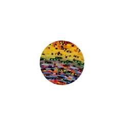 Car Painting Modern Art 1  Mini Magnets