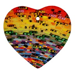 Car Painting Modern Art Ornament (Heart)