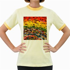 Car Painting Modern Art Women s Fitted Ringer T-Shirts