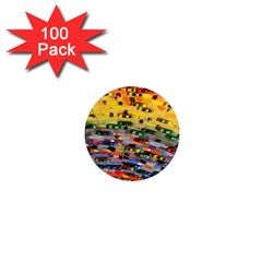 Car Painting Modern Art 1  Mini Magnets (100 pack)