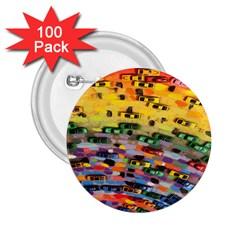 Car Painting Modern Art 2.25  Buttons (100 pack)