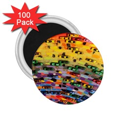 Car Painting Modern Art 2.25  Magnets (100 pack)