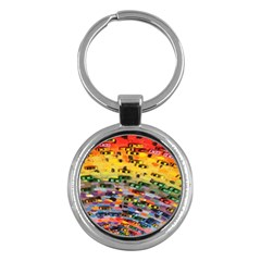 Car Painting Modern Art Key Chains (Round)